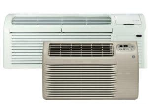 Two different air conditioning units