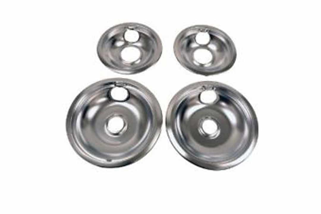 Aluminum drip pans for electric stove with coils