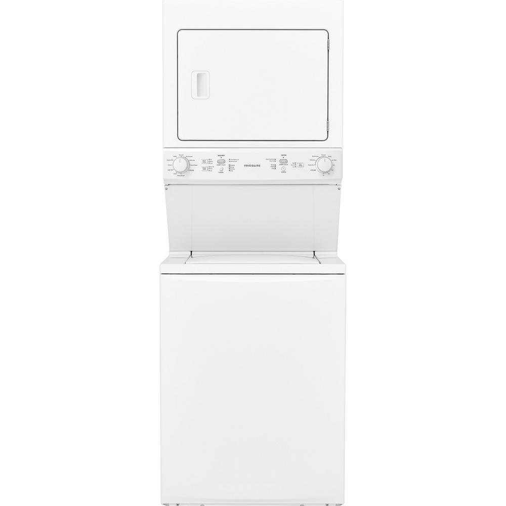 White Frigidaire laundry center appliance